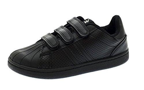 LD Outlet, Sneaker bambine Nero nero, Nero (nero), 42