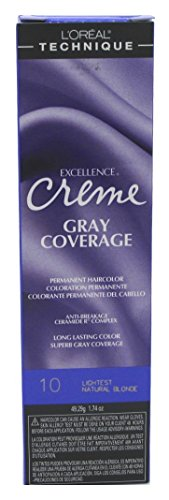 Loreal Excellence Creme Color #10 Lightest Nat. Blonde 1.74 Ounce...