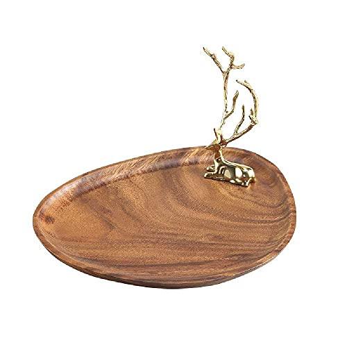 N\C Soporte de joyería de latón de la cornamenta, decoración de la percha del pendiente de la joyería, soporte de