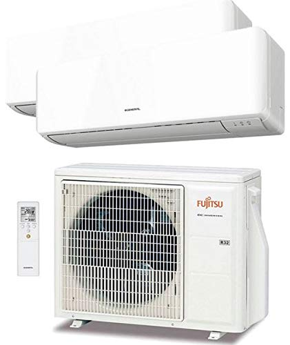 Aire Acondicionado Fujitsu ASY3520U11MI-KM MultiSplit 2x1 Inverter 2715+1584 frig/h 3042+1774 kcal/h