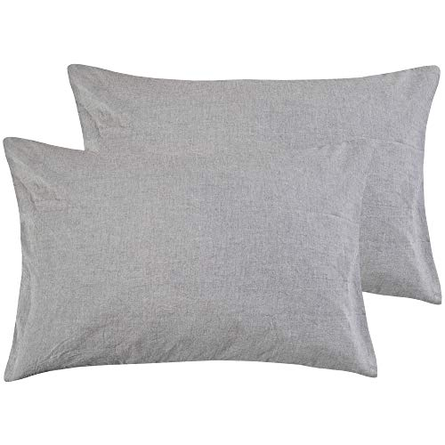 NTBAY Queen Size Stone Washed Cotton Pillowcase, 2-Pack Reduces Allergies...