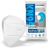 Eventronic 10 pezzi mascherine FFP2/KN95, design antipolvere, protettivo e confortevole, forniscono il miglior effetto filtrante, prevenzione e protezione