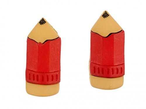 pendientes pendientes de crayón Miniblings dibujo lápiz de la pintura roja