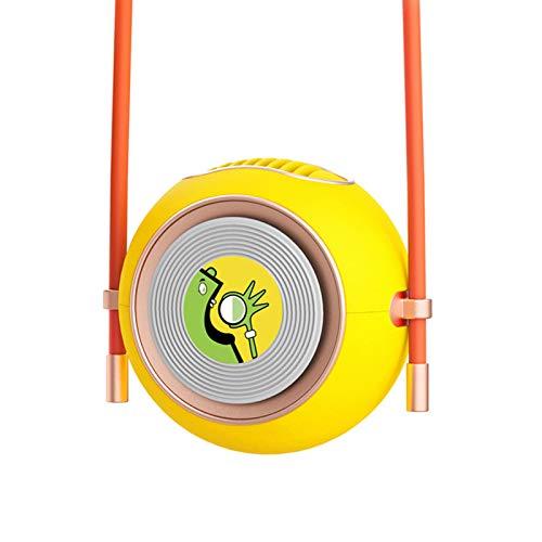 lefeindgdi Ventilador de cuello colgante, mini ventilador USB de carga de viaje de verano portátil enfriador de aire portátil para oficina viajes niños