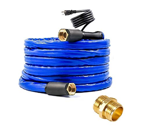 H&G lifestyles 25 ft Heated Water Hose 1/2' Inner Diameter Withstand Temperatures Down to -40°F