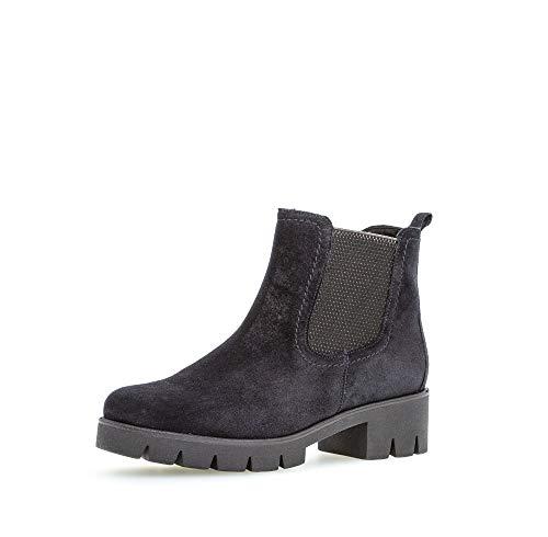 Gabor Damen Chelsea Boots, Frauen Stiefeletten,Wechselfußbett,Best Fitting, Schlupfstiefel flach Stiefel halbstiefel,Pazifik,37.5 EU / 4.5 UK