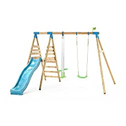 Rugged and rustic, this TP Alaska Wooden Double Swing Set and Slide is sold complete with a fun glid Features and Specifications Easy to assemble Includes wraparound swing collars which make chan Glide ride maximum 35kgs per seat Assembly required es...