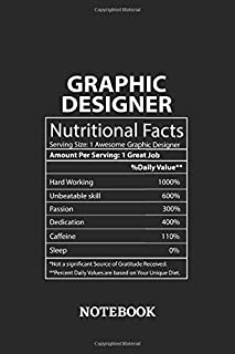 Nutritional Facts Graphic Designer Awesome Notebook: 6x9 inches - 110 graph paper, quad ruled, squared, grid paper pages • Greatest Passionate working Job Journal • Gift, Present Idea