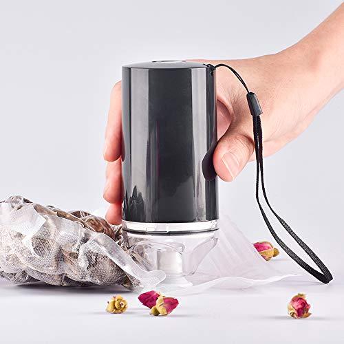 Galapara Envasadora Al Vacío Portatil, Mini Bomba DeVacío De Compresión Automática De Vacío USB Extractor De Aire Recargable Almacenamiento de Alimentos con 10 Bolsas Reutilizables