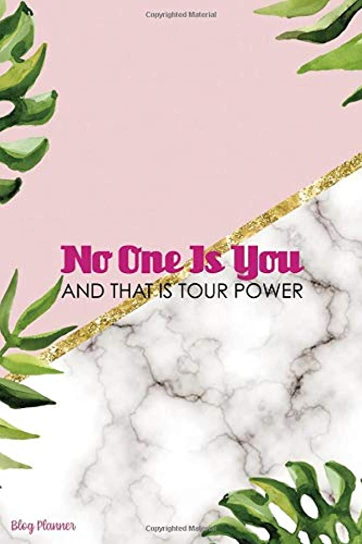 ベイビーペンレイアNo One Is You And That Is Tour Power: Blog Planner Notebook Journal Composition Blank Lined Diary Notepad 120 Pages Paperback Leaves