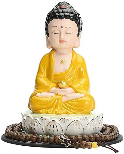 Resumen única estatua Escultura Estatuas creativas y esculturas Decoración al aire libre para jardín, hogar Buda Adornos Estatua Zen Cerámica Pequeño Tathagata Decoración de automóviles Artesanía