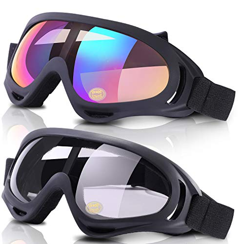 LOEO 2-Pack Snow Ski Goggles, Snowboard Goggles for Kids, Teens, Youth, Adults
