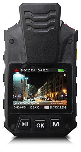 Alpha Digital 1080P HD Wide Angle Police Body Camera, Multi-Functional Body Worn Camera with 32GB Memory