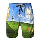 Zbcoopl Ri-ck and Mor-ty - Bañador para hombre y niño, pantalones cortos de playa con estampado 3D