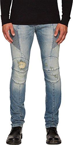 Pierre Balmain Men's Biker Jeans Blue Denim Jeans