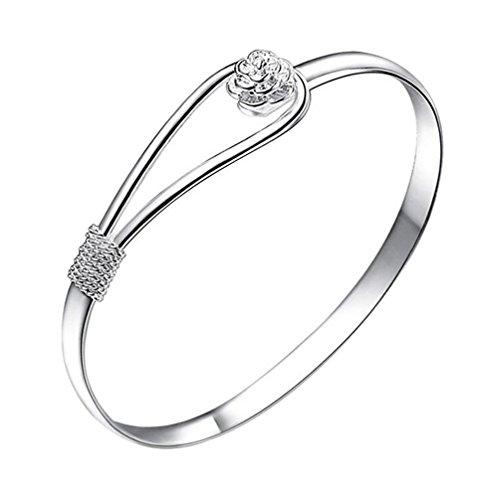Atommy Pulseras de plata pulsera romántica mujer cereza para enviar a