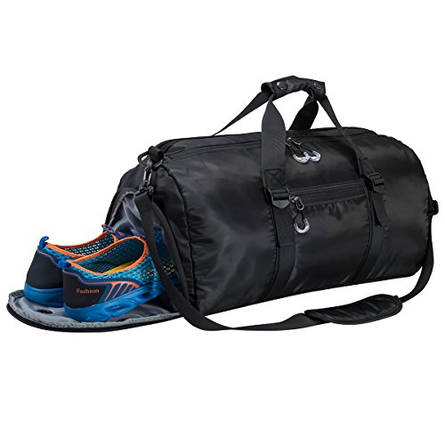 Gym Sports Duffel Bag with Shoes Compartment and Waterproof Pouch Travel Duffel Bag Weekend Bag for...