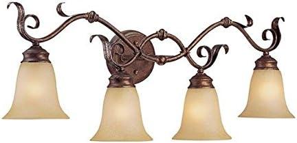 2021 Millennium outlet sale 2021 7054-BB/S Vanity Light, Burled Bronze/Silver sale