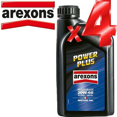 Offerta - Olio Motore 20w60 Petronas/AREXONS Power Plus 4 Litri in lattine da Singolo litro per...