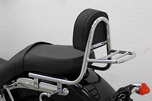 Motorize Fehling Sissy Bar Pipe with Cushion and Pannier Rack, Triumph America 2007- -  PAWU-379-005