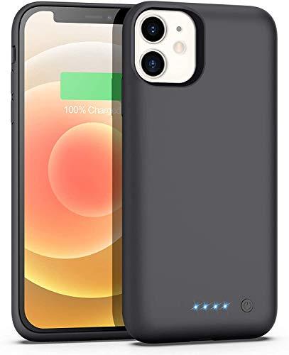 Funda Batería para iPhone 12 Mini, iPosible [5800mAh] Funda Cargador Portatil Batería Externa Ultra Carcasa Batería Recargable Power Bank Case para iPhone 12 Mini [5.4 Pulgadas]