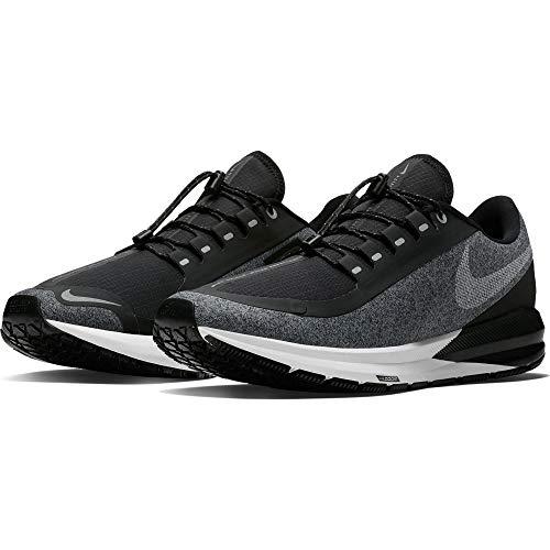Nike Air Zoom Structure 22 Shield Men's Running Shoe Black/White-Cool Grey-VAST Grey 11.0