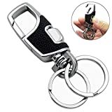 Lancher Key Chain with (2 Extra Key Rings and Gift Box) Heavy Duty Car Keychain for Men and Wom…
