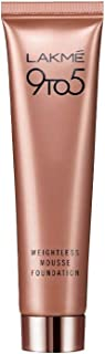 LAKME 9 to 5 Weightless Mousse Foundation, Rose Honey 04-25 gm