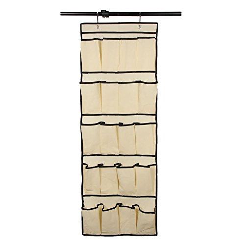 Demiawaking Portascarpe da Appendere 20 Tasca Scarpiera a Sospensione da Porta Organizzatore Scarpe Portaoggetti da Appendere al Muro/alla Porta (Giallo)