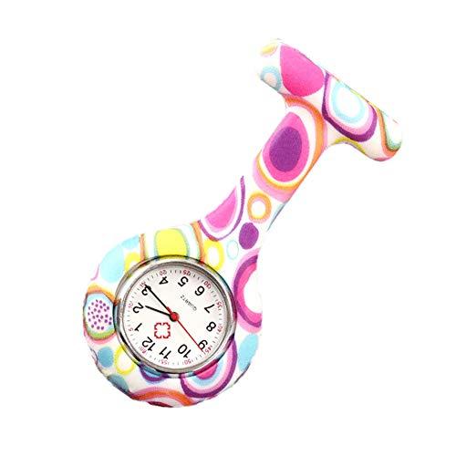 Krankenschwesteruhr Taschenuhr Silikon mit Pin/Clip Ärztin der Gesundheitswesen Sanitäter Medizin Brosche fob Uhr. Pflegeuhr.