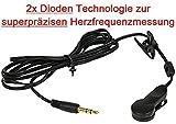 Go-Shopping24, clip per orecchio con tecnologia 2 diodi per la misurazione della frequenza cardiaca...