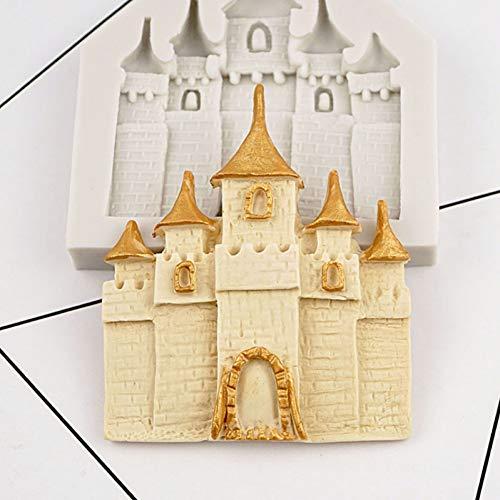 POIUY Princesse château Silicone Moule Fondant Moule gâteau décoration Outils Chocolat Gumpaste Moule, Accessoires de Cuisine