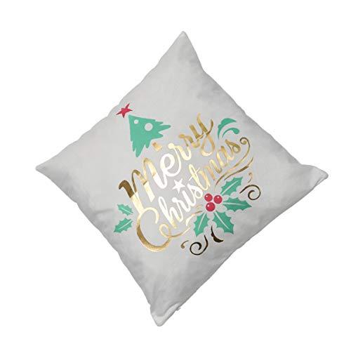 CLISPEED Capa de Almofada de Feliz Natal Capa de Almofada de Natal Capa de Almofada de Reposição para Sofá-Cama Cama de Carro