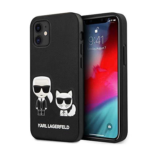 Karl Lagerfeld hardcase Ikonik Karl & Choupette Hülle für KLHCP12SPCUSKCBK iPhone 12 Mini 5,4