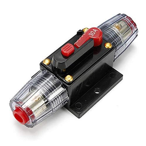IENPAJNEPQN Circuit Breaker Car Audio 30A Fusible en línea for la Protección del Sistema 12V
