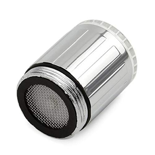 BDWS Grifo led luminoso, grifo de agua, ducha, boquilla para baño, cocina, calentador, termostato, azul,burbujeador de7 colores