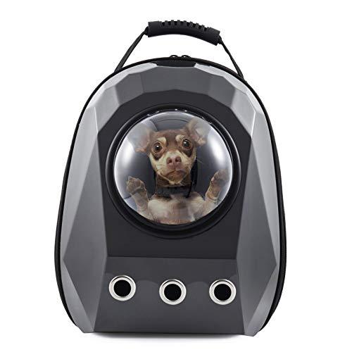 Aceshop Hundetasche Haustier Hunde Rucksack Raumkapsel Pet Tragbar Carrier Platz Kapsel Rucksack Luftlöcher Wasserdicht Leicht Handtasche für Katzen Kleine Hunde Petite Tiere Silber