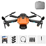 Drone 6K EIS para adultos,control remoto profesional Drone plegable fácil GPS Quadcopter con HD FPV Live Video Gesture Selfie Altitude Hold,5G WiFi transmisión dual GPS regreso a casa (naranja)