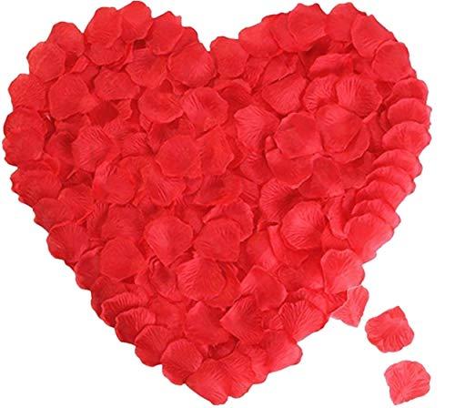 花びら 赤2000枚セット フラワーシャワー 桜吹雪 薔薇 造花 プロポーズ 飾り 結婚式 ウエディング 2次会 誕生日 お祝い 演出にローズ パーティー クリスマス 撮影 演出小物 パーティー用飾り付け (赤2000枚)