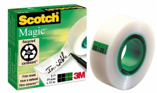 3M Scotch Magic 810 19mm x 33m nastro adesivo da cancelleria Trasparente
