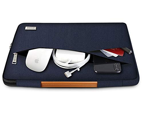TECOOL 14 Zoll Laptop Hülle Tasche Notebook Aktentasche Stoßfestes Tragetasche Schutzhülle mit Fronttasche für 14 Zoll Acer/Asus/Dell/HP/Huawei/Lenovo Notebooks Ultrabooks Netbooks, Dunkelblau