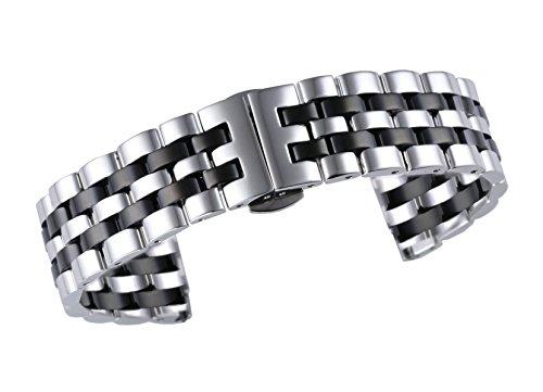 stile giubileo due tono argento 22mm degli uomini/cinturini per orologi in...