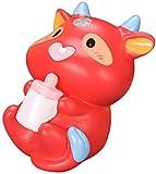 Ruby569y 2021 Ox Year Lucky Zodiac Vaca de la suerte, decoración conmemorativa de souvenirs, mini buey de la suerte, adorno de resina de búfalo, adorno para jardín de hadas, decoración de paisajes – 5