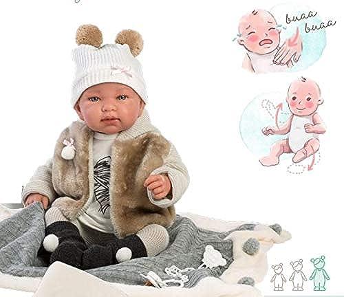 Llorens 84432 Llorens 84432 Weißende Puppe Tina 43 cm, beige