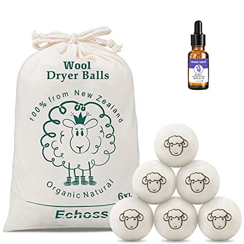Bolas de Secador,Bolas para secadora con aceite esencial perfumado Acorta Tiempo de Secado y Suavizar la Ropa,bolas de secadora reutilizables de Ropa para antiestático