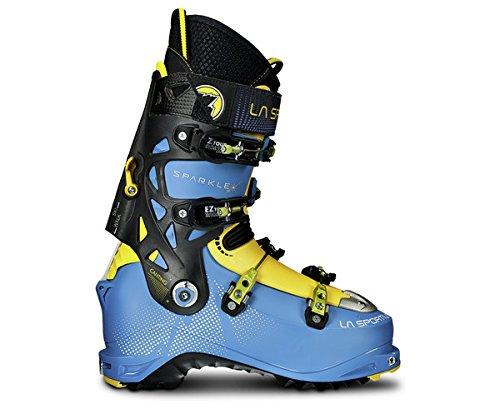 La Sportiva Sparkle Cosmic - Botas de esquí de travesía, Color Azul/Amarillo, Talla 23.5