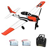 Volantex 761-9 RC Airplane 2.4Ghz 4 Channel Remote Control,with Aileron T28 Trojan Parkflyer RC Aircraft Plane,Ready to Fly with Xpilot Stabilization System,One-Key Aerobatic,Perfect for Beginners