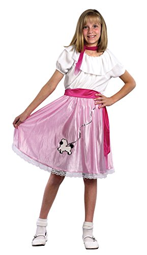 Bristol Novelty CC539 Costume de Teeny Bopper 50'S pour Enfant, Taille, Blanc, Grand