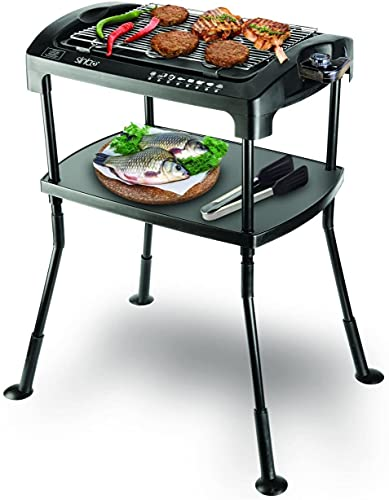 Barbecue elettrico 'Cool Touch' da 2000W, tavolo con griglia elettrica, per feste di grigliate, da balcone Standgrill