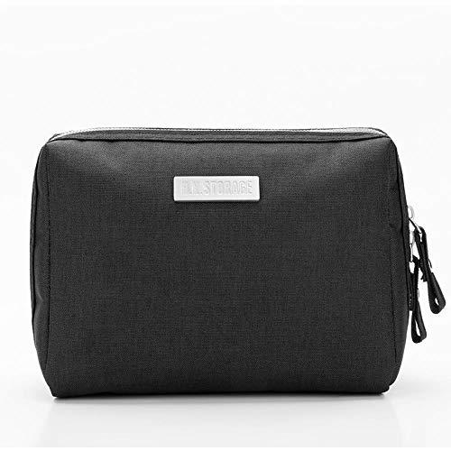 Cosmetic Bag_Large Capacity Travel Cosmetic Bag Waterproof Makeup Clutch Storage Bag, Black